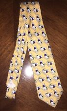 Brooks Brothers Walrus Pattern Silk Tie - Yellow