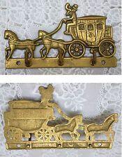 Accroche torchons clé LAITON CHEVAL CARROSSE CHEVAUX brass horses coach #1