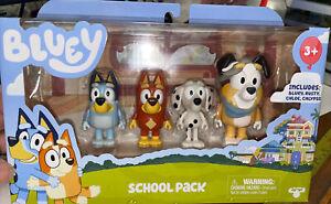 NEW!! BLUEY School Pack Friend Figures SetBluey Rusty Chloe Calypso
