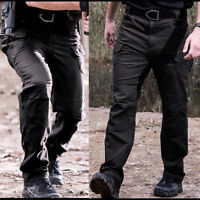 Men Tactical Pants Combat Quick Dry Lightweight Waterproof SECURITY Cargo Hiking