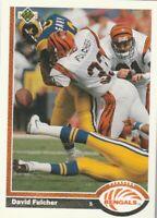 FREE SHIPPING-MINT-1991 Upper Deck #363 David Fulcher Bengals PLUS BONUS CARDS