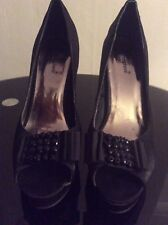 """Atmospher High Healed peep toe Shoes Size 6 glitzy bow 5"""""""