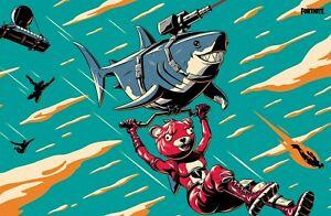 Fortnite Game Poster /Lazer Shark A4 A3 A2 A1 A0 MEGA A0