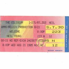 Neil Young & International Harvesters Concert Ticket Stub Richfield Ohio 8/21/85