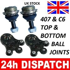 4 x PEUGEOT 407 & C6 TOP & BOTTOM SUSPENSION BALL JOINTS