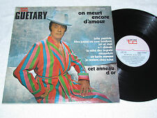 GEORGES GUETARY On Meurt Encore D'Amour LP Trans-Canada Records FRENCH QUEBEC