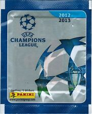 Brazil 2012 2013 Panini UEFA Champions League pack say Contiene 5 Stickers