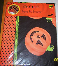 "HALLOWEEN TableCloth PUMPKINS Table Cloth (52""x70"") Rectangular NEW"