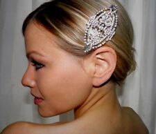 Wedding Vintage Inspired Art Deco Style Bridal Hair Crystal Side Comb Brooch