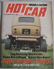 Hot Car magazine November 1978