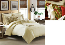 Tommy Bahama Embroidered Botanical Twin Duvet Cover/Anguilla Euro Sham Vanila