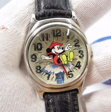 """MICKEY MOUSE,""""Fire Brigade""""Rare,Floating Water,Box,Unisex/CHARACTER WATCH R17-29"""