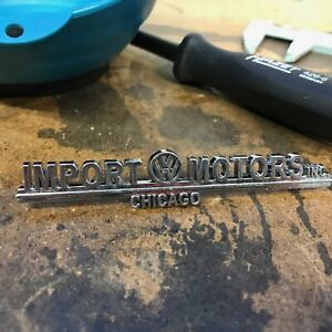 Import Motors Volkswagen VW Dealer Emblem Badge okrasa samba zwitter split oval