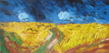 After Vincent van Gogh's Crows over a Wheatfield Oil Painting