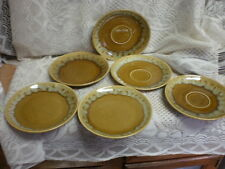 (6) pcs Canonsburg pottery 1967 Butterscotch 7 1/8'' plates  and saucers