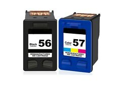 2PK HP 56 Black/57 Tri-color Remanufactured Ink Cartridges