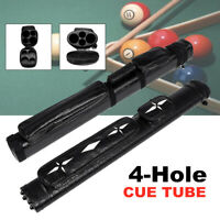 2x2 1/2 Leather Billiard Stick Pool Barrel Hard Cue Tube Case Black w/ Handle