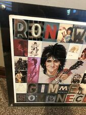 RON WOOD ROLLING STONES Japan 1979 LP Framed GIMME SOME NECK Vinyl