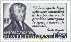 EBS Italy 1956 - Amedeo Avogadro, scientist - Unificato 802 MNH**