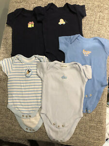 5x Baby Boy Vests 0-3 Months
