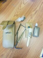 Vintage Euro Leather pouch Cleaning Kit