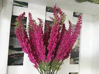 Üppige Erika Lila Flieder pink 24 Stiele Pflanze Blume Strauß Busch Kunstblume