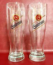2 Vintage Gambrinus Czech Beer Glasses 0.5L Bar