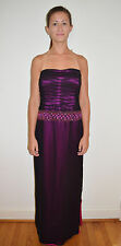 Couture Designer Kay Unger Beaded Strapless Formal Gown Prom Dress  Size 8