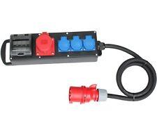 CEE Stromverteiler Vollgummi Baustromverteiler 32A / 400V zu 1x16A 3x230V
