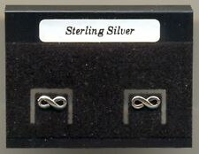 Infinity Sterling Silver 925 Studs Earrings Carded
