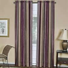 "Achim Home Furnishings Ombre Window Curtain Panel, 50"" x 84"", Aubergine"