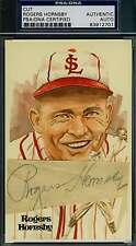 ROGERS HORNSBY PSA/DNA COA PEREZ STEELE CUT AUTHENTIC  HAND SIGNED AUTOGRAPH