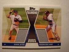 2011 Derek Jeter Robinson Cano Topps Diamond Duos Jersey Relics #DDR-1 #07/50