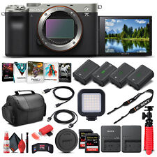 Sony Alpha a7C Mirrorless Digital Camera (Body Only, Silver) (ILCE7C/S) - Pro