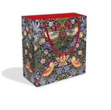 Strawberry Thief Design Small Luxury Gift Bag with Gift Tag V&A Collection