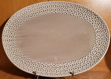 "Threshold Taupe Oval Serving platter, 15 3/4"", Stoneware, Target, Excellent"