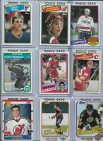 Vintage NHL Rookie Lot (9) Different Yzerman Hull Shanahan Francis NMint BV$145