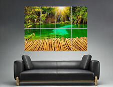 Paysage Cascade Waterfall Parc Nature Wall Art Poster A0 Large print