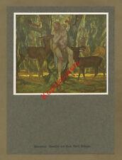 Adolf Coin Genoveva Brabant Forest Romantic Poetry idyll Animals Mythology 1926