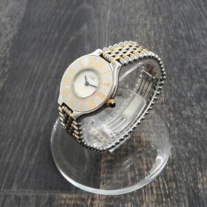 Must de Cartier 21 Stainless Gold Plated Ladies Quartz Wrist Watch #59 Rise-on