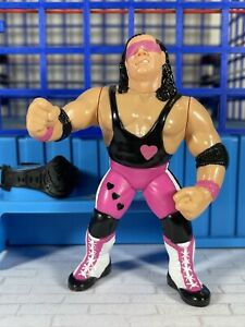 WWF Hasbro S4 Bret Hart Near Mint! Action Works!! Titan Sports