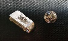 Porsche Pin 908 03 1970 Modell 3D silbern glänzend 23x13mm