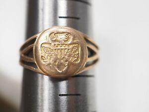 Vintage 10K Gold Girl Scout Ring
