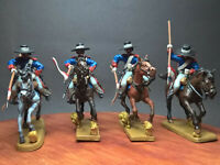 Alamo 1835,Mexican Round-Top Hat Lancers charging,60mm painted.
