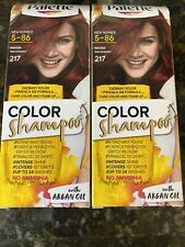 Schwarzkopf Palette Hair Dye Color Shampoo 217 Mahogany With Argan Oil