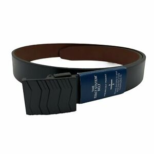 Kenneth Cole Mens Plaque Buckle Reversible Dress Belt Black Brown M