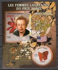 Mali, 2009 issue. M. Mayer, Nobel Prize Winner. Orchid & Butterfly. IMPERF.