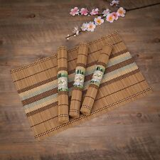 "THY COLLECTIBLES Eco-Friendly 18"" x 12"" Bamboo Table Place mats Non-slip Tabl..."