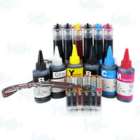 Continuous Ink System with Refill Bottle for Canon PGI-270 CLI-271 TS8020 TS9020