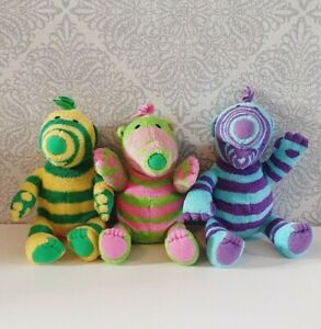 "Fimbles 8"" Soft Plush Toys Fimbo, Florrie and Baby Pom."